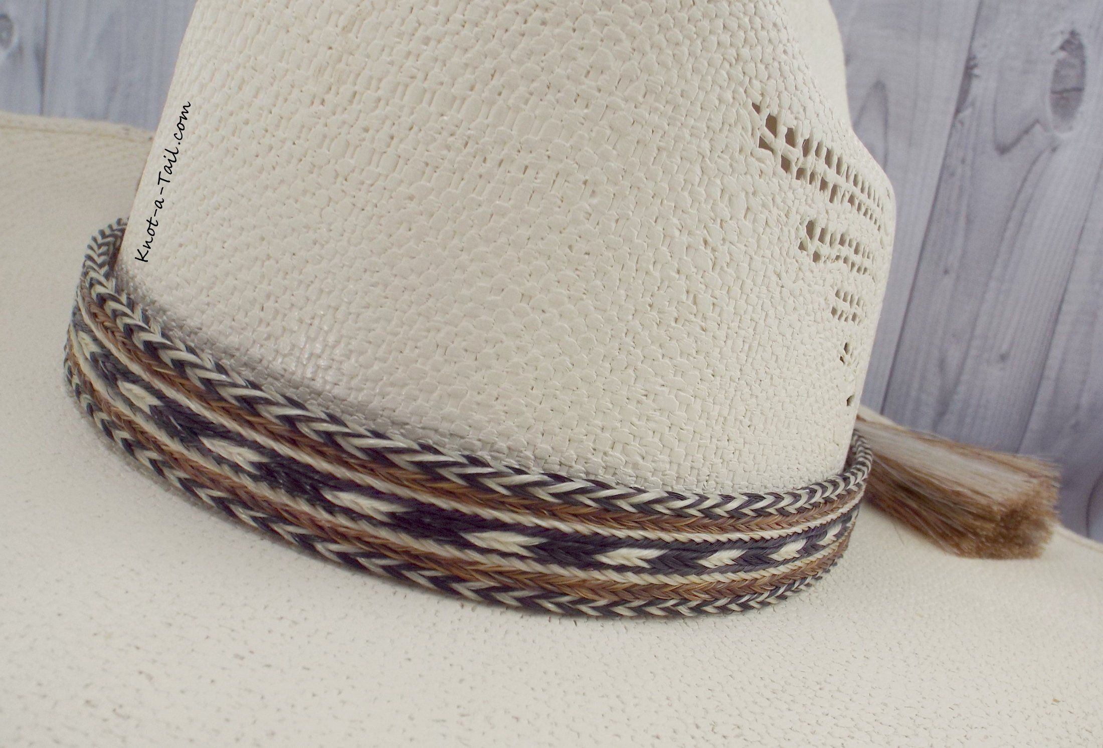 Hat band, Horsehair hat band, X-wide 7 Strand, BOLD, double