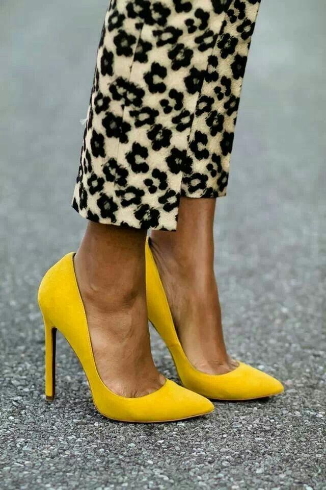Pin By Karolina Waraczewska Kachlicka On Little Details Heels Yellow Pumps Pumps
