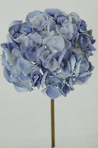 59cm Natasha Lg Hydrangea X1short Stem Spray Lavenderblue