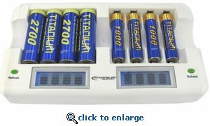Titanium Ch 8800 Smart Fast 8 Bay Battery Charger Battery Charger Aaa Battery Charger Charger