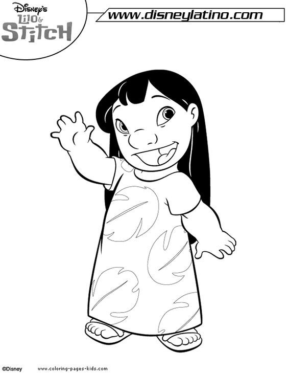 Lilo and stitch color page, disney coloring pages, color plate ...