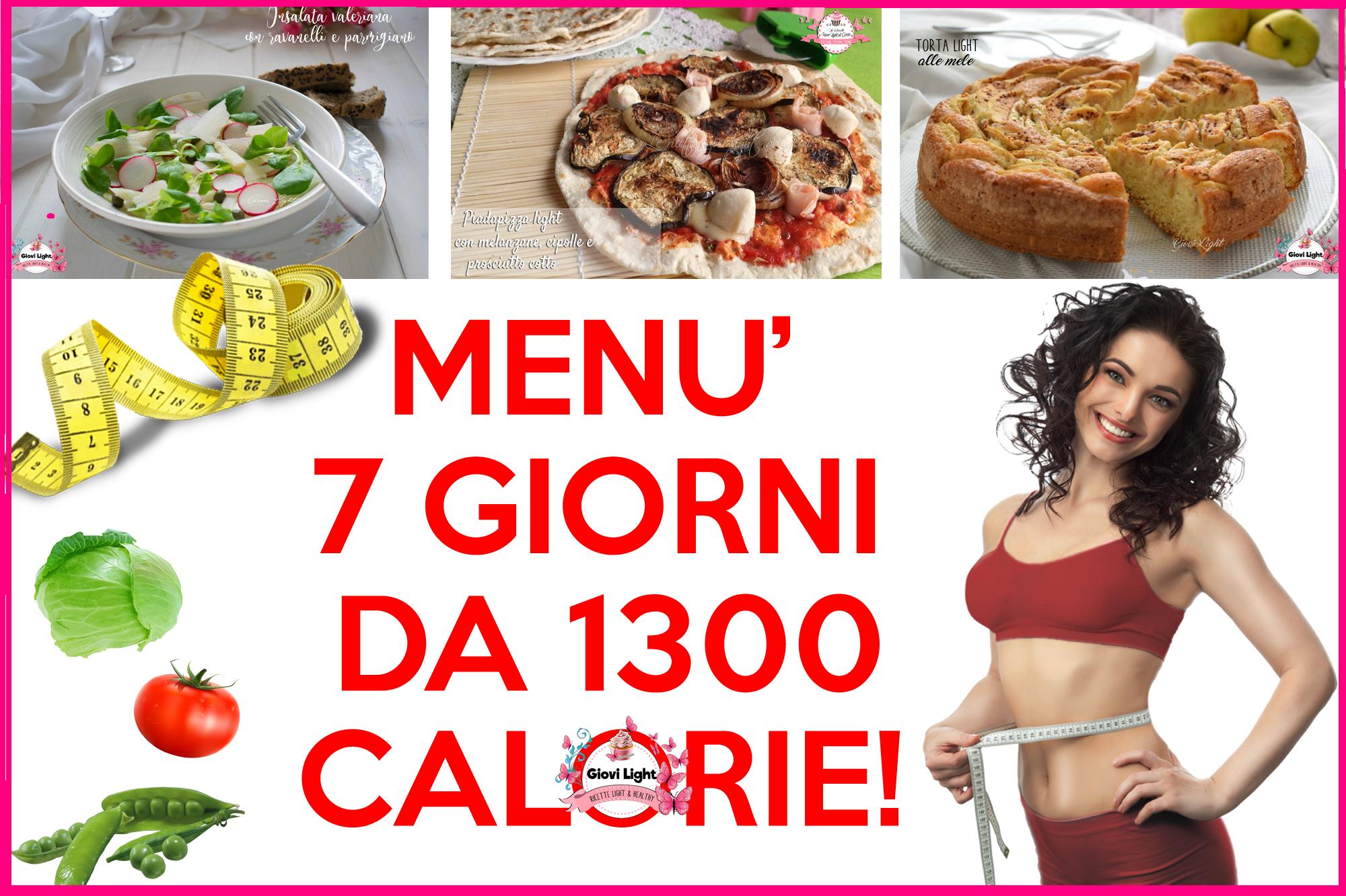 dieta mediterranea settimanale 1500 calorie