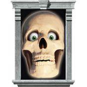 Skull Window Magic Decorations 33 1/2in x 65in 2ct #halloween #partycity