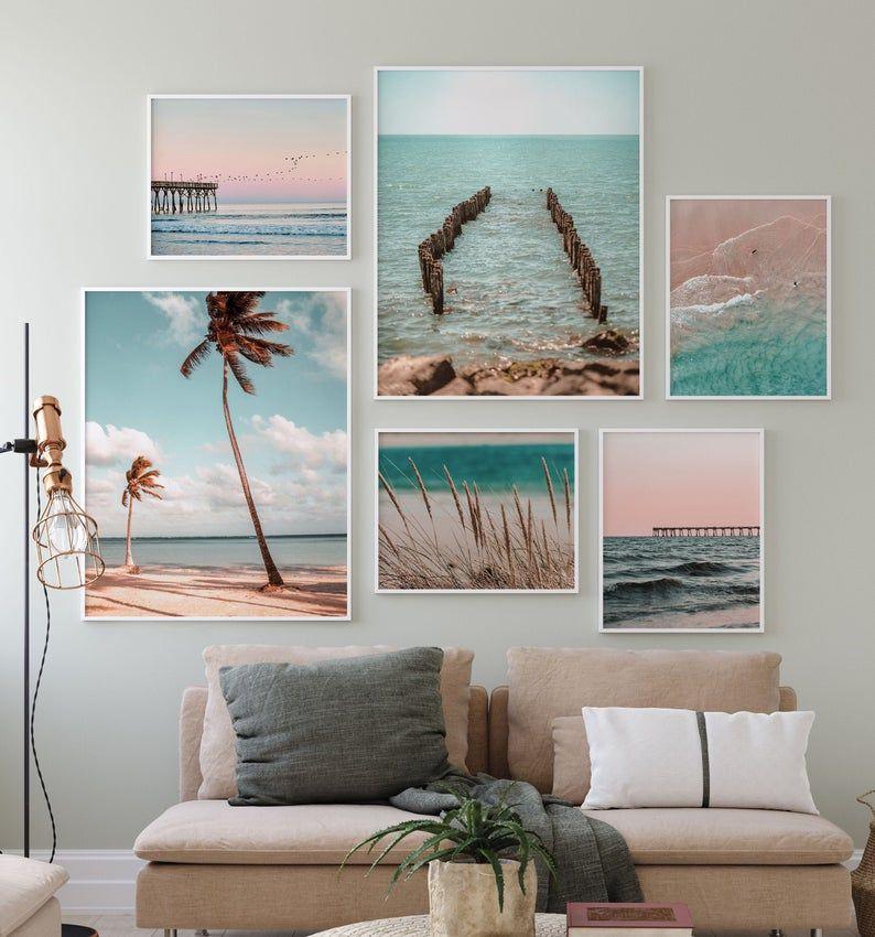 Pastel Ocean Photo Surfing Set, 6 Piece Gallery Se