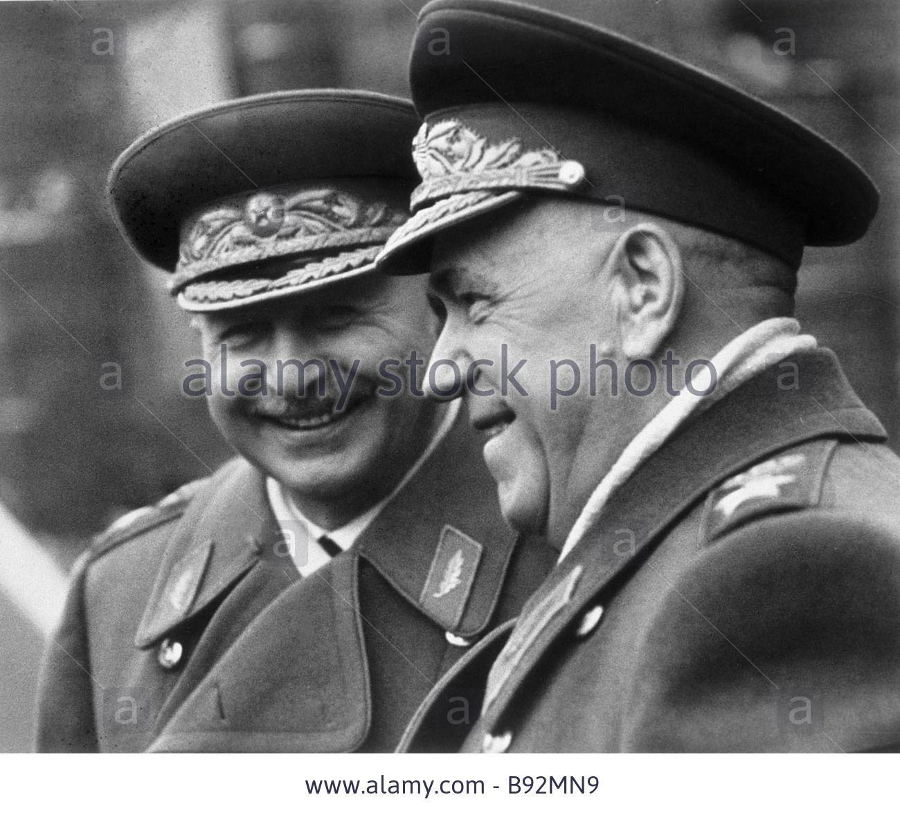 7bc410dec Soviet Union Marshals Georgy Zhukov right and Ivan Bagramian left ...