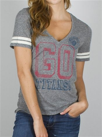 Tennessee Titans women s NFL shirt  32.00 by Junk Food with a vintage look  and retro style. OldSchoolTees.com has your favorite NFL t-shirts! 04f6597fd