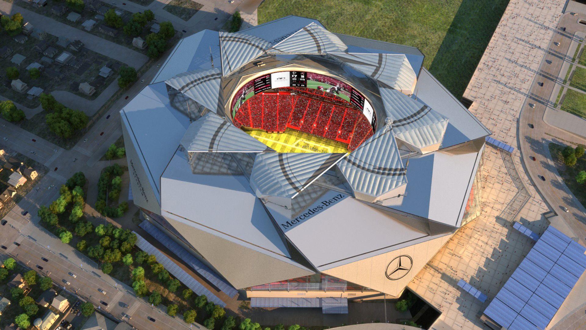 Report Mercedes Benz Stadium S Retractable Roof Design Causing Problems Atlanta Falcons Stadium Stadium Architecture Stadium Design