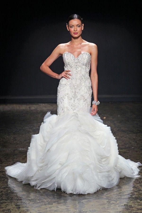 Lazaro fall 2014 wedding dresses wedding dress weddings for How much is a lazaro wedding dress