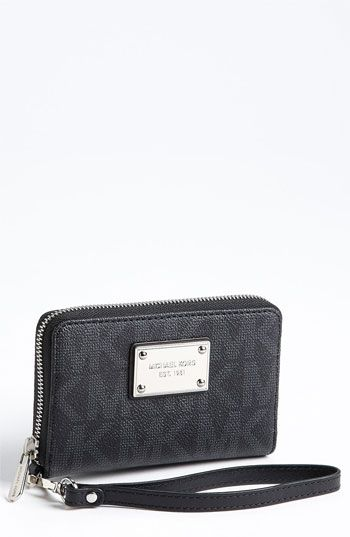 13975a0434cb MICHAEL Michael Kors 'Signature' Phone Wristlet available at #Nordstrom