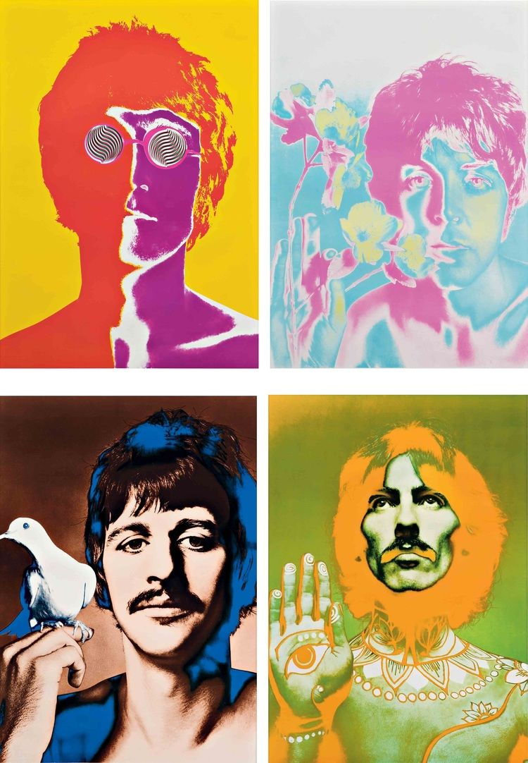PAUL McCARTNEY /& JOHN LENNON BEATLES PORTRAIT POSTER TRULY FAB ARTWORK!!!