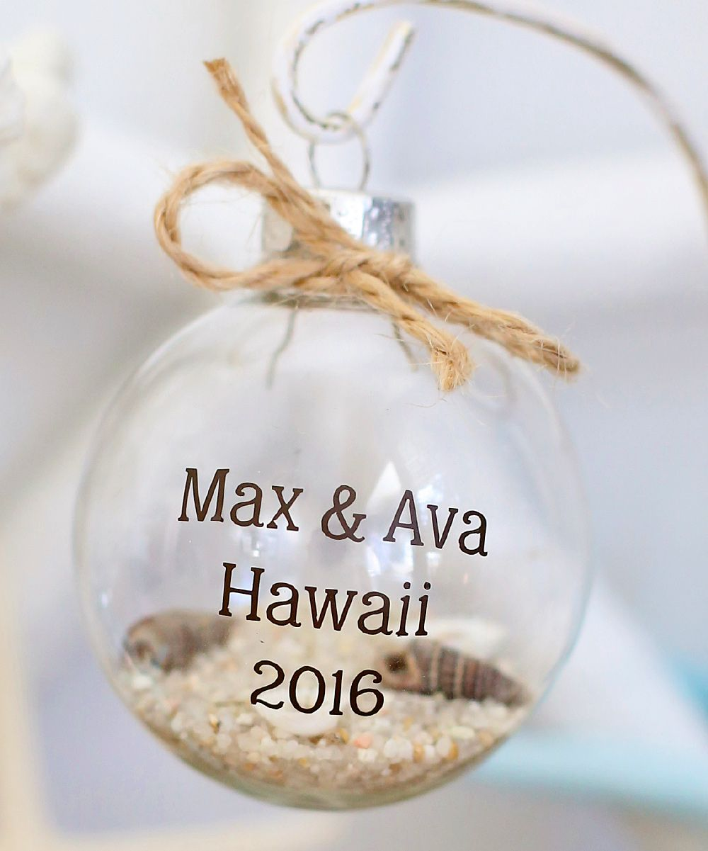 Morgann Hill Designs DIY Fillable Personalized Ornament For The ...