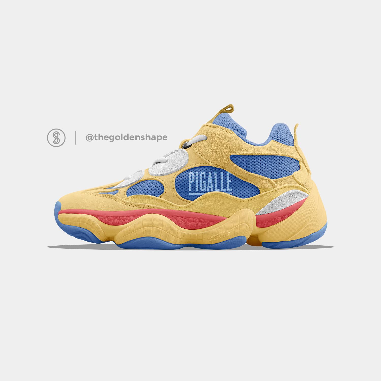 Pigalle x Adidas Yeezy Desert Rat 500 Basketball Pack