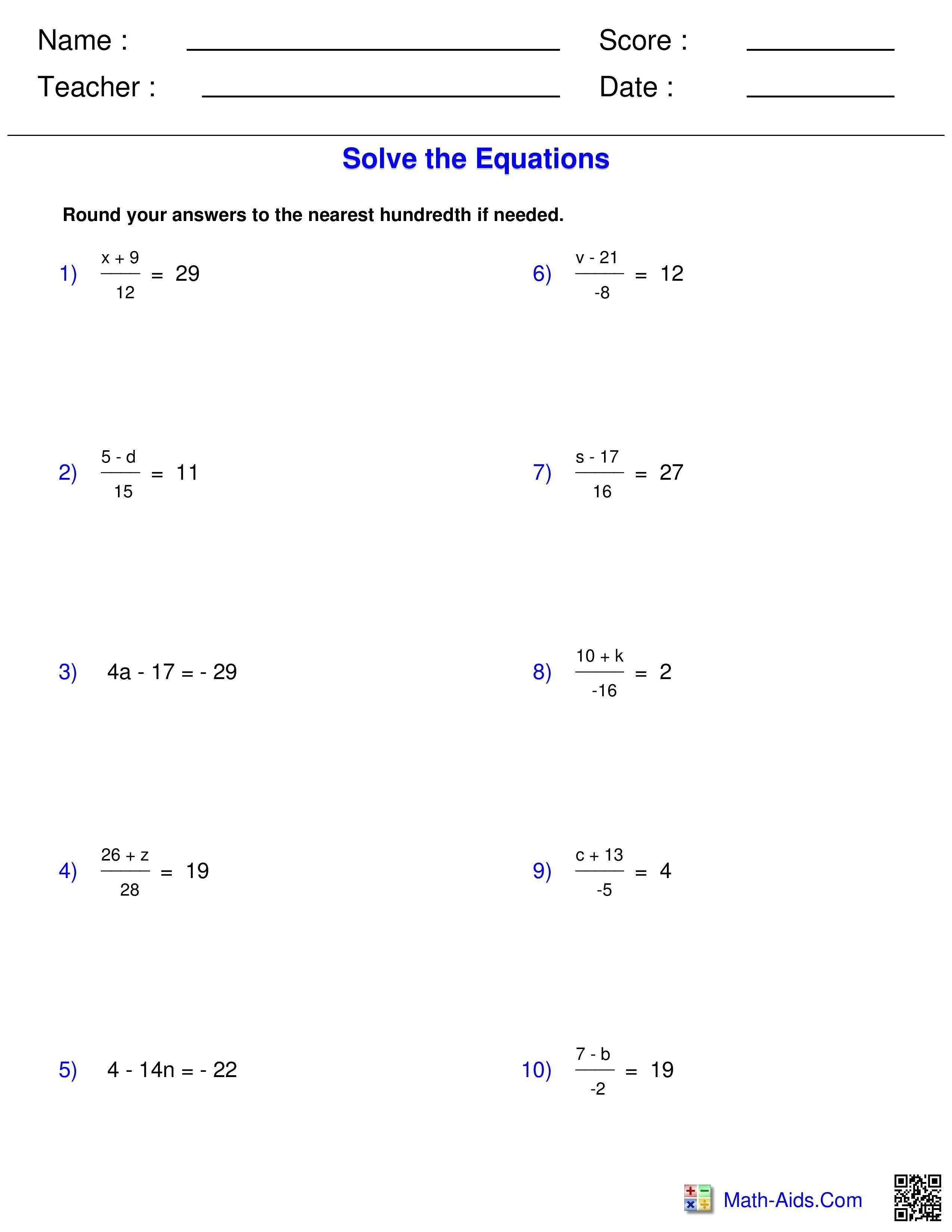 Best 20+ Pre Algebra Worksheets Pre algebra worksheets