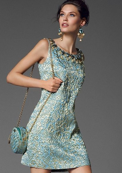 Dolce & Gabbana 2013 blue dress