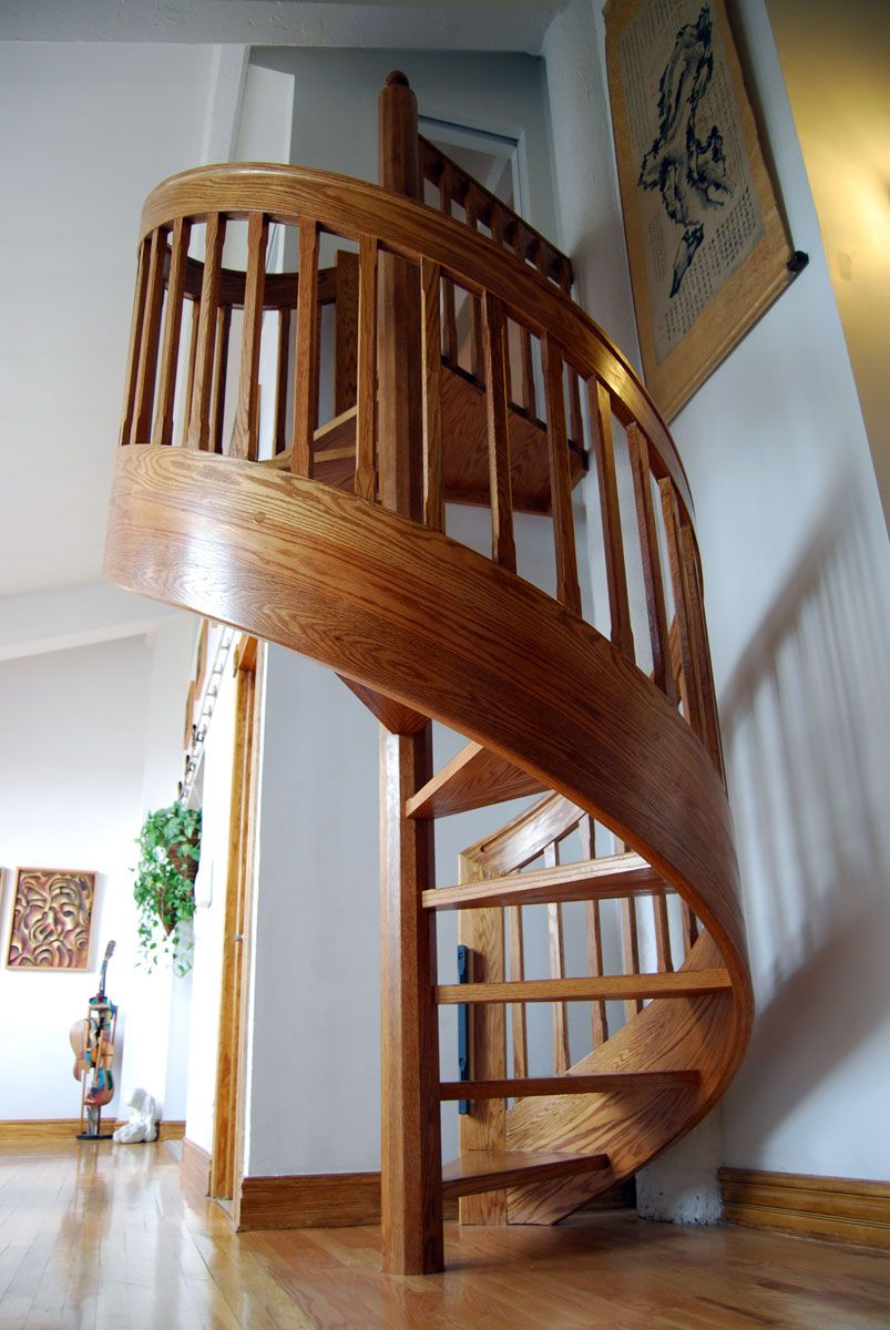 11 Modern Space Saving Stairs Ideas Wooden Spiral