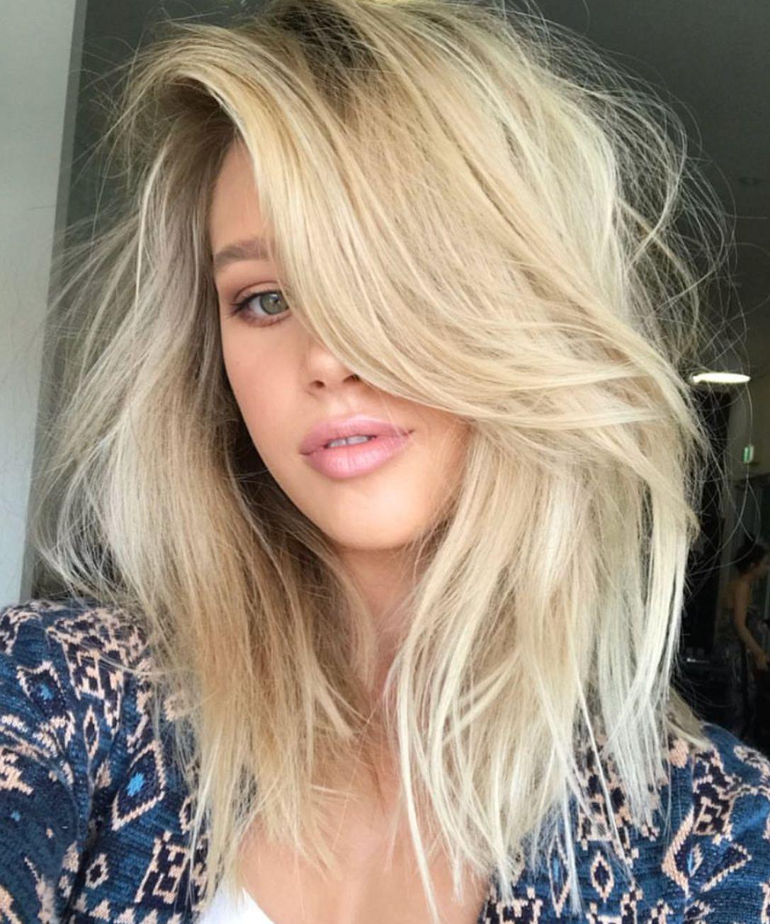 pinterest: deborahpraha ♥️ messy hair, medium length with