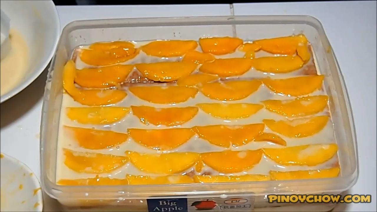 Mango Graham Cake  Pinoychow  Filipino Food Recipe