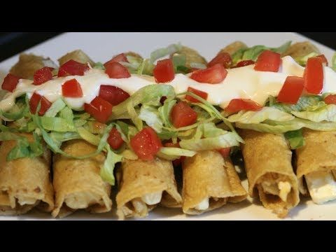Taquitos Dorados | Tacos Dorados | Antojitos Mexicanos