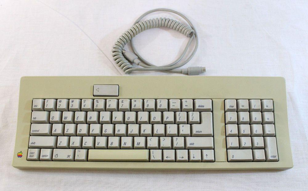 Vintage Apple Keyboard Mechanical Model M0116 With Cable Alps Skcm Orange Vintage Apple Apple Keyboard Vintage Electronics
