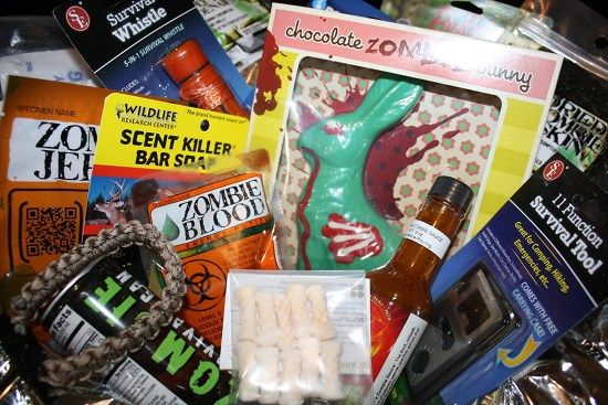 Zombiepocalypse Easter basket full of prepping supplies (and candy!) | Offbeat Home & Life