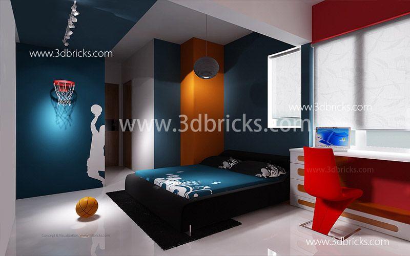big boys bedroom ideas famous architects in trivandrum 3d bricks case studies - Brick Kids Room Decor