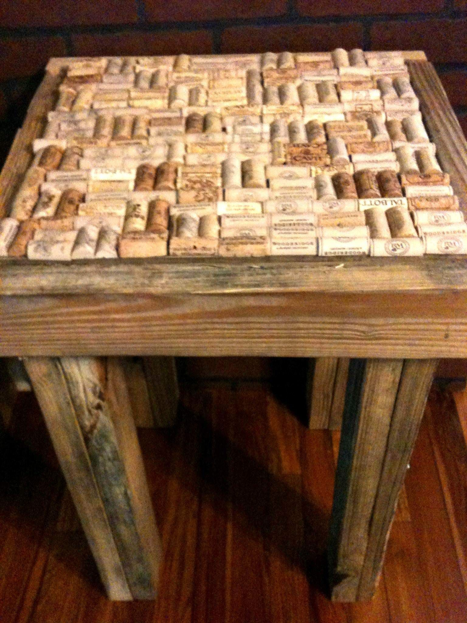 Wooden transport pallets have become increasingly popular for diy - Pallet Wood Cork End Table