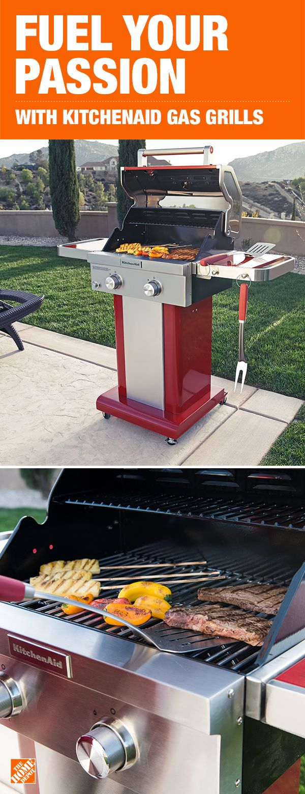 Kitchenaid 2 Burner Propane Gas Grill In Red Grills