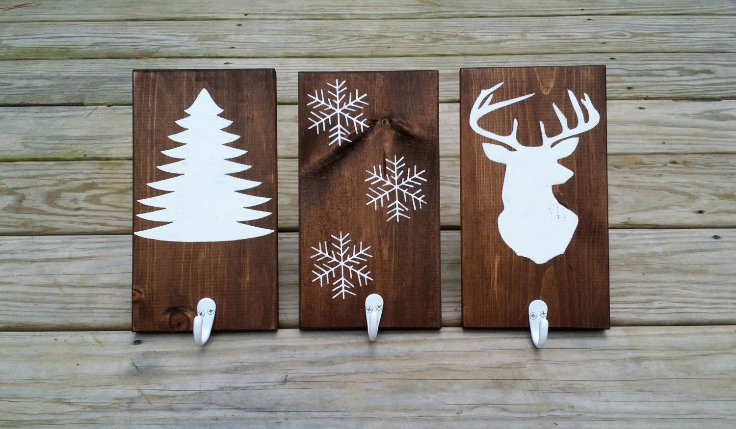 rustic wooden christmas stocking holders, rustic stocking hangers