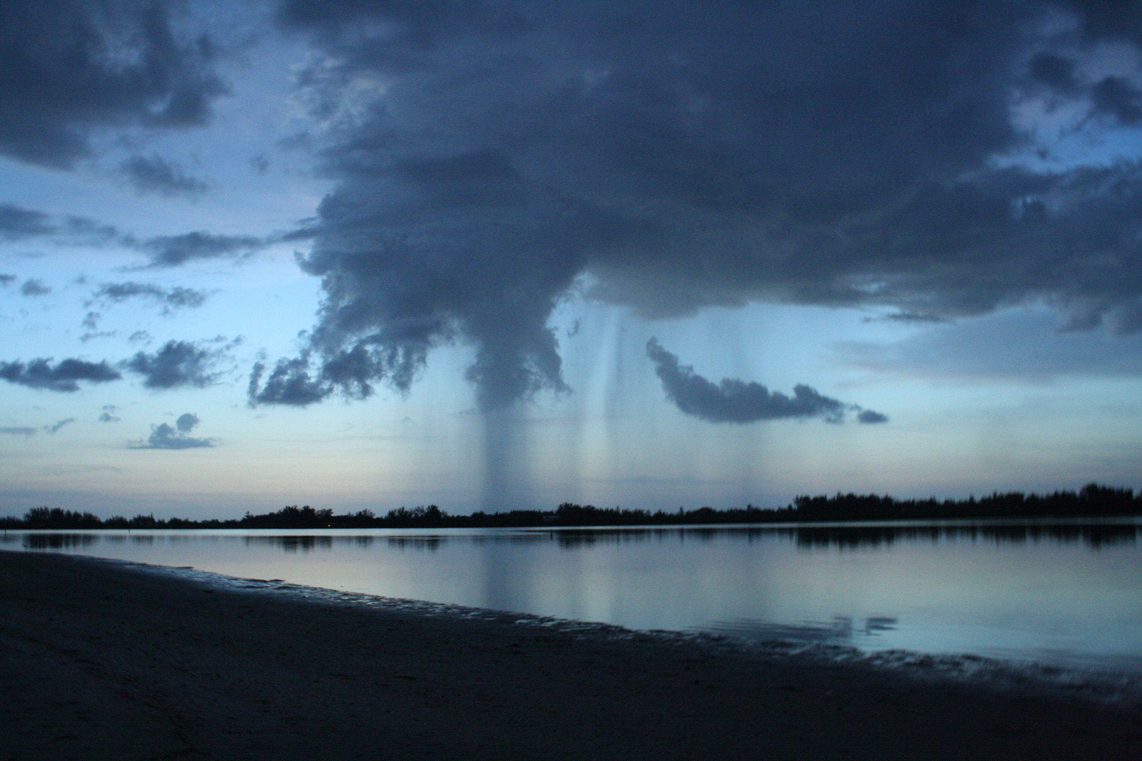 Rain In The Distance Outdoor Water Beach