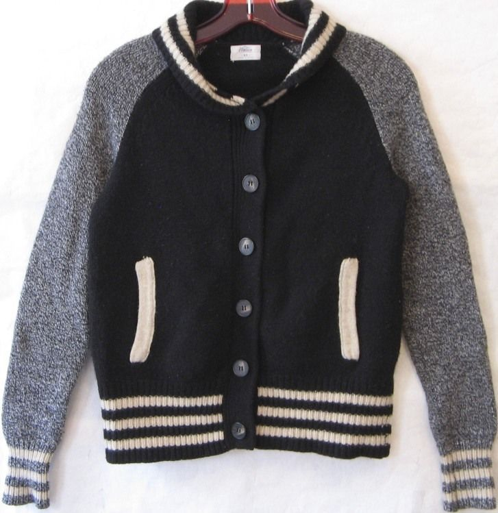 MADEWELL WALLACE LETTERMAN Sweater Jacket Varsity Cardigan Wool ...