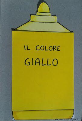 Maestra nella il colore giallo filastrocche pinterest for Oggetti di colore giallo