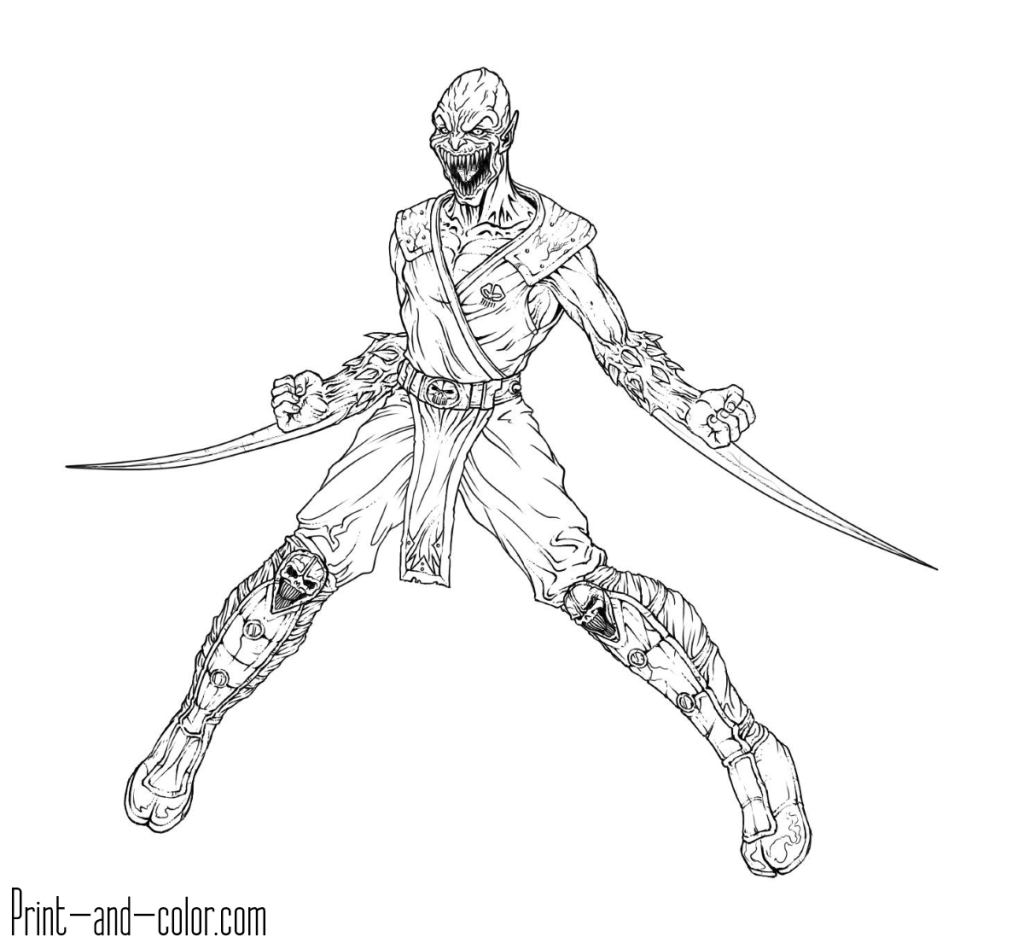 Mortal Kombat Coloring Pages Print And Color Com Coloring Pages Mortal Kombat Coloring Pages For Kids