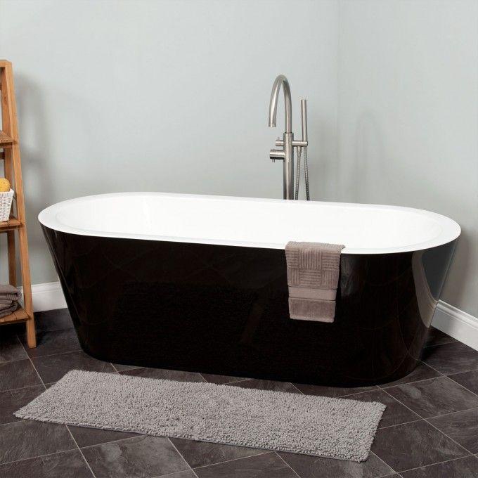 Leith Black Acrylic Tub Bathtubs Bathroom This Is The