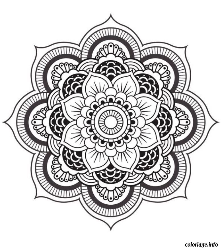 coloriage mandala fleur dessin imprimer tattoo pinterest coloriage mandala coloriage et. Black Bedroom Furniture Sets. Home Design Ideas
