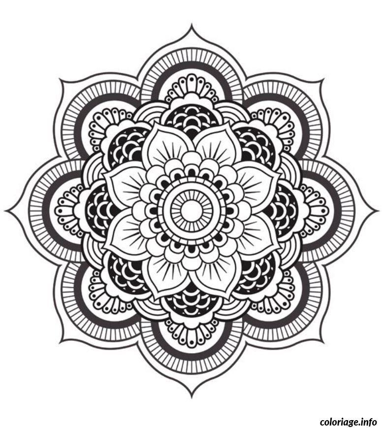 Coloriage mandala fleur dessin imprimer tatuajes - Coloriage a imprimer mandala ...