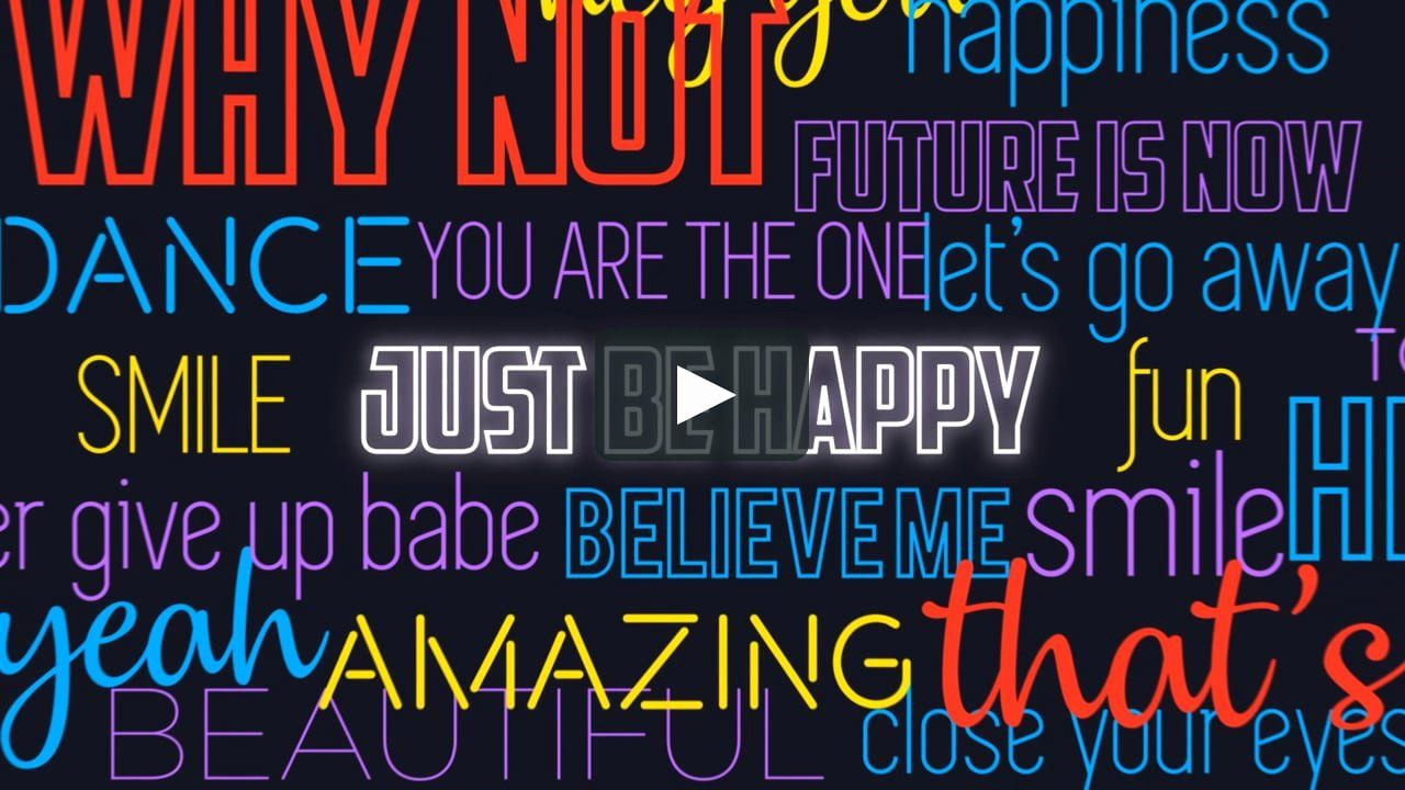 After effects lyric video elegant lyrics and voice over