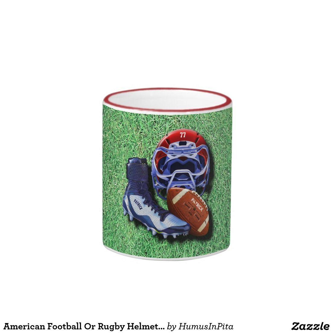 American football or rugby helmet ball shoe named ringer