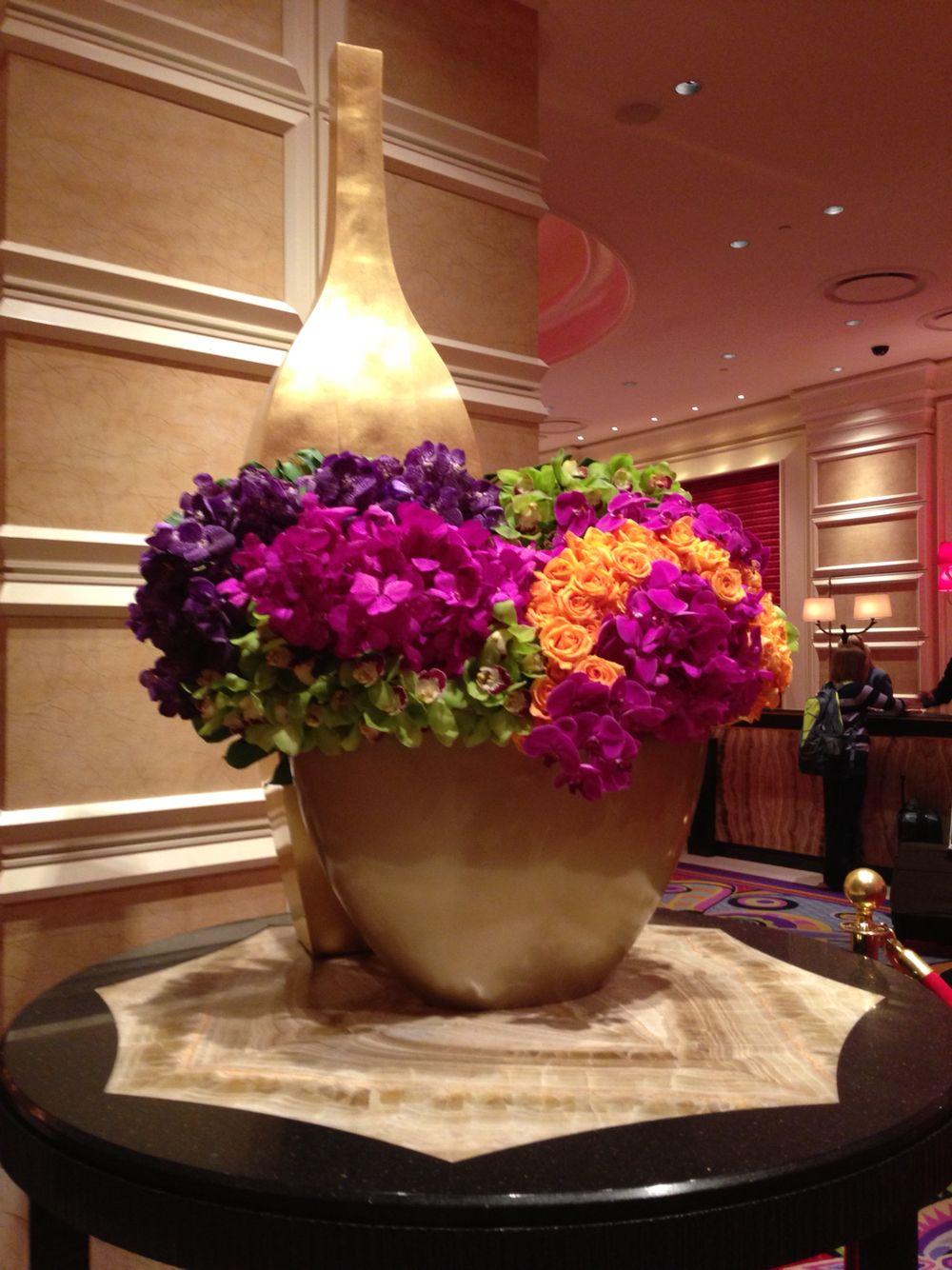 Gorgeous flower arrangement in the lobby of encore las