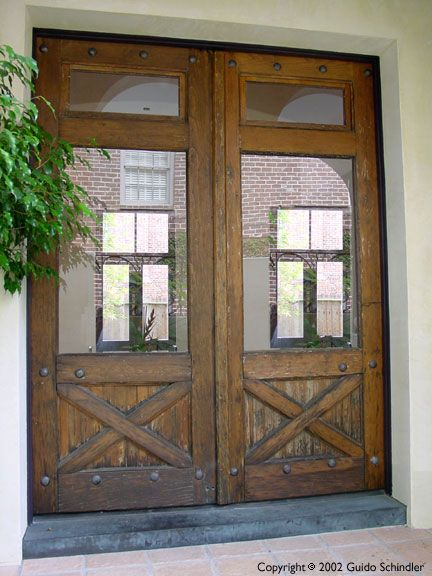 Paint them new orleans french quarter blue and maintain for Wood french patio doors