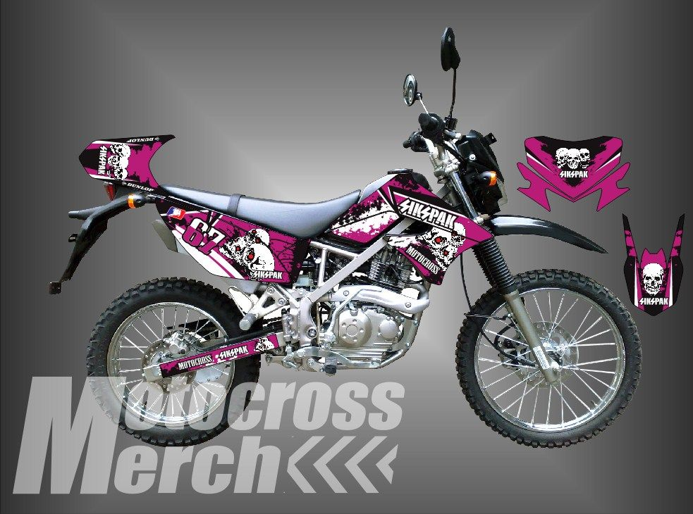 Decal Klx 150 Decal Dtracker 150 Sikspak Motocross Metal
