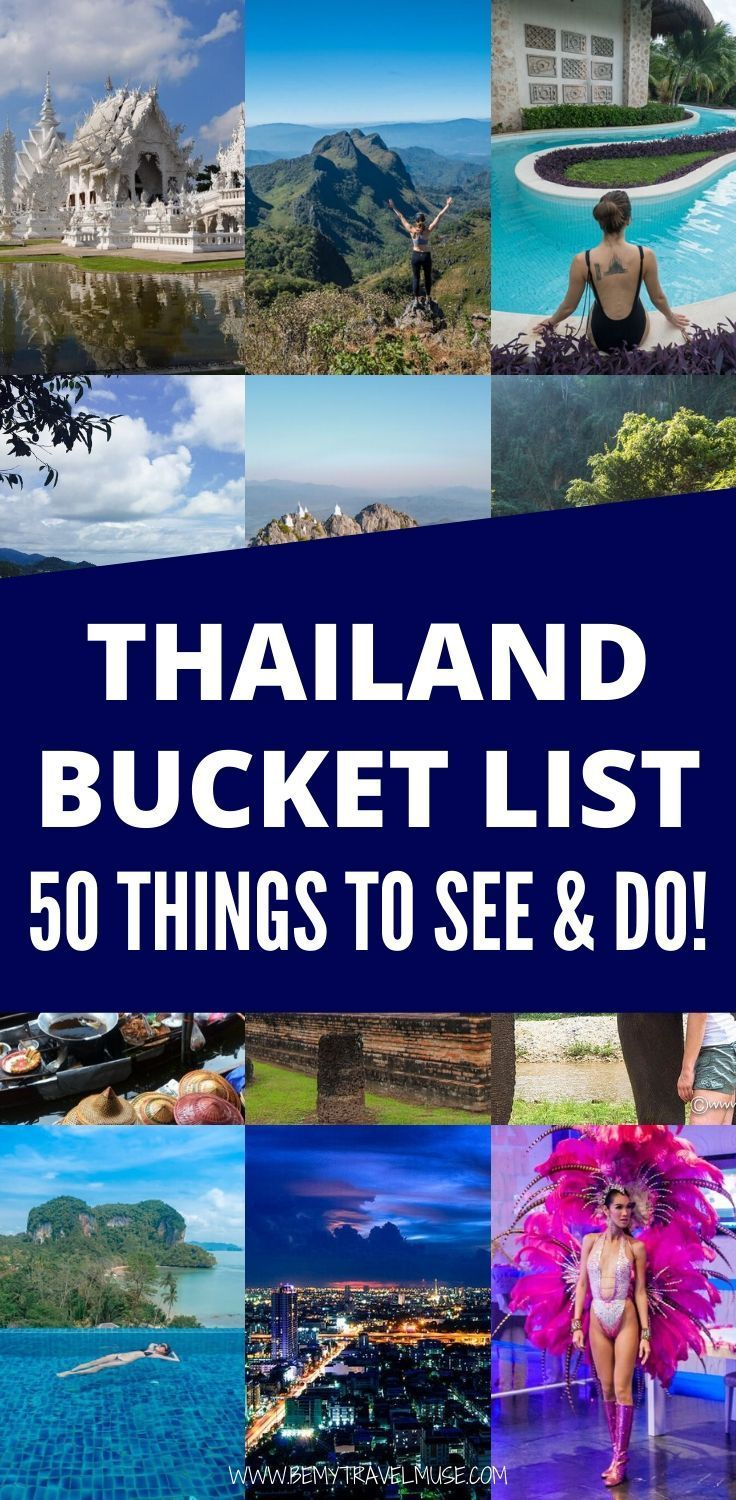 THAILAND BUCKET LIST: 50 Things to See & Do -   19 travel destinations Thailand country ideas