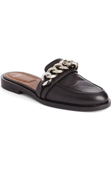 94dc74cc8a56 Givenchy Chain Strap Slide Loafer (Women) available at  Nordstrom Black  Loafer Shoes