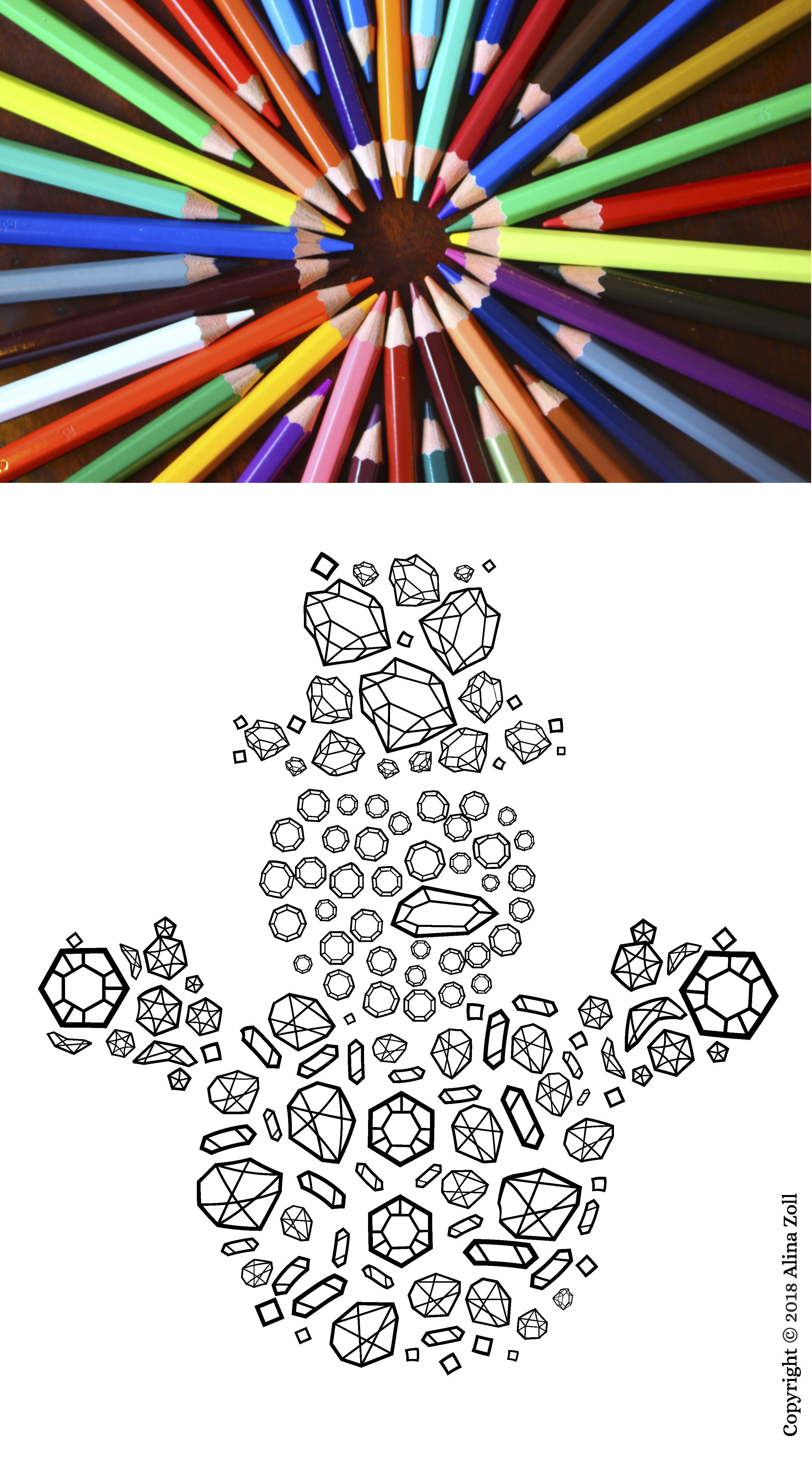 Christmas Coloring Page For Adult Instant Download Digital