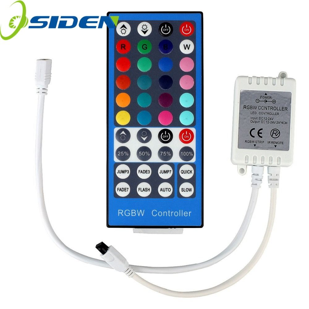 Osiden 40key Strip Rgbw Rgbww Smd 5050 Led Strip Light Conntroller Dc 12v 24v 6a Ir Infrared Remote Flexible Led Strip Lights Led Strip Lighting Rgbw Led Strip
