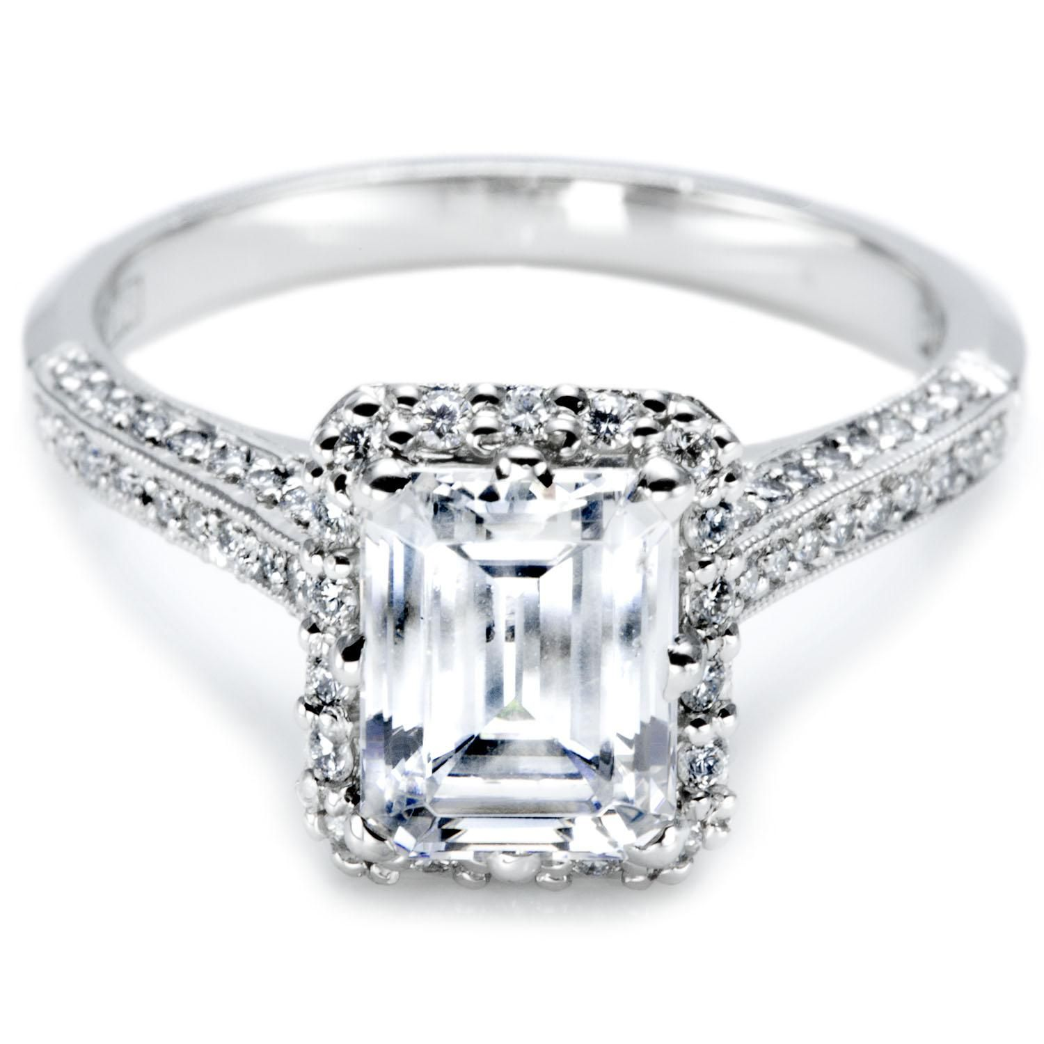 Emerald Cut Engagement Rings With Trapezoids 24 Wedding
