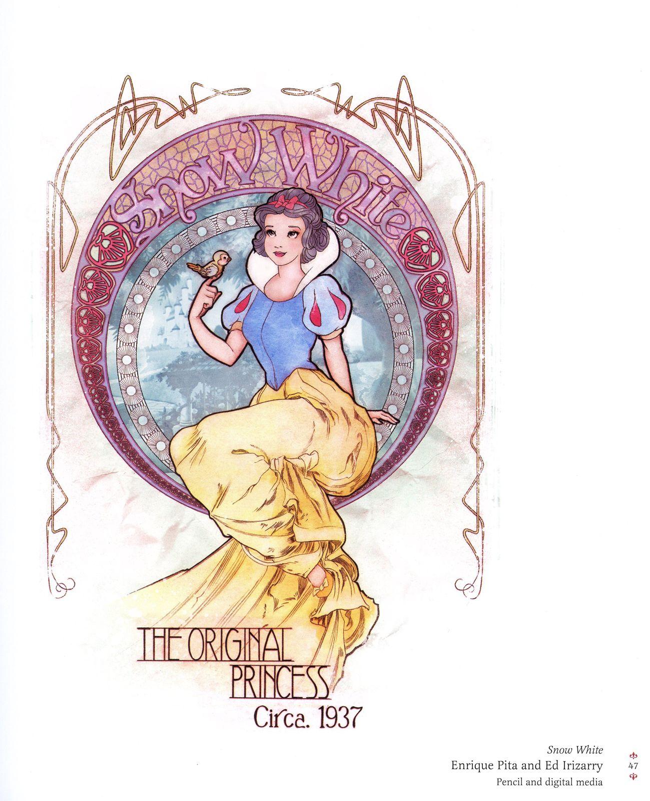 Art nouveau Snow White reimagined