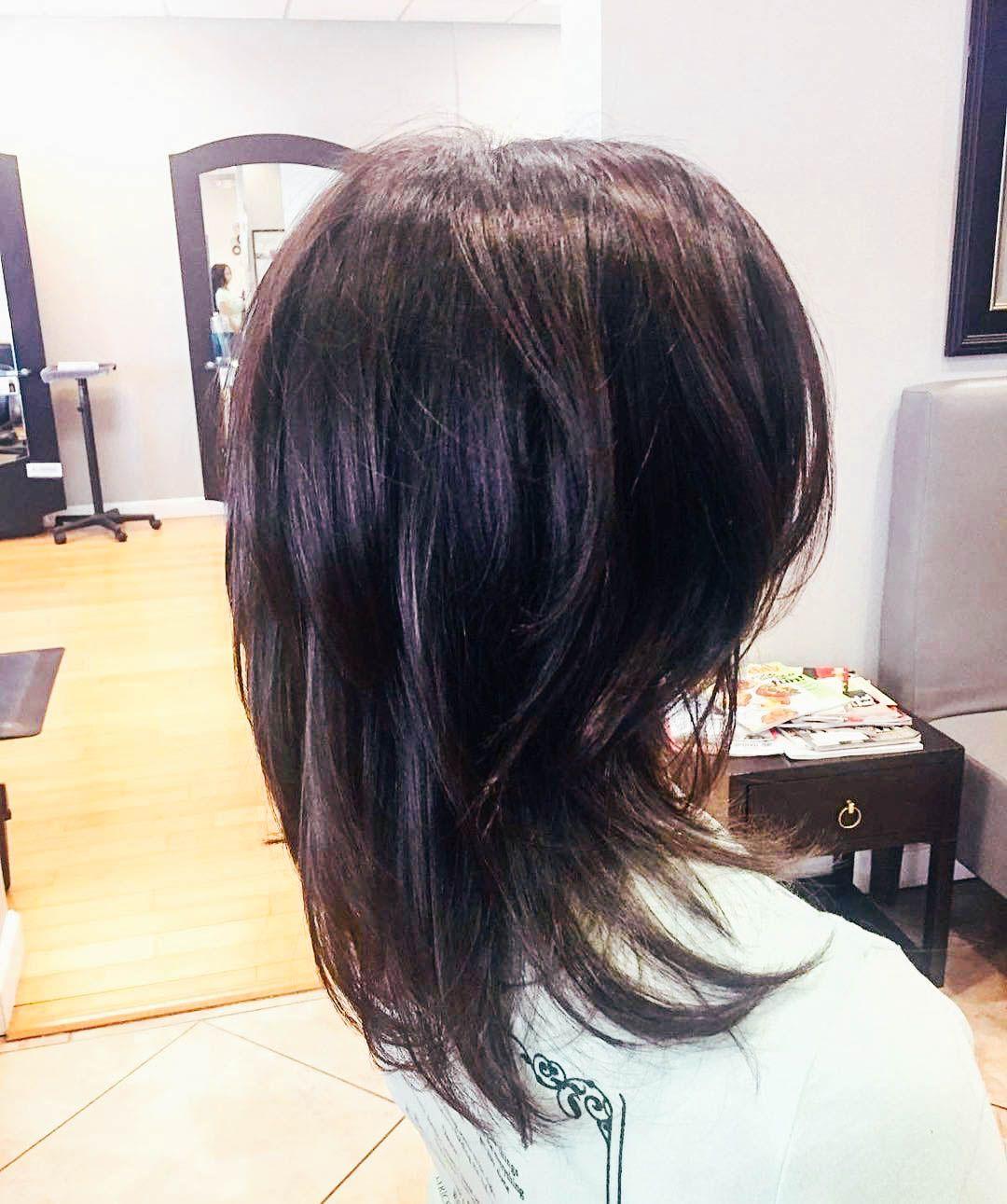 Стрижка каскад на средние волосы трижки