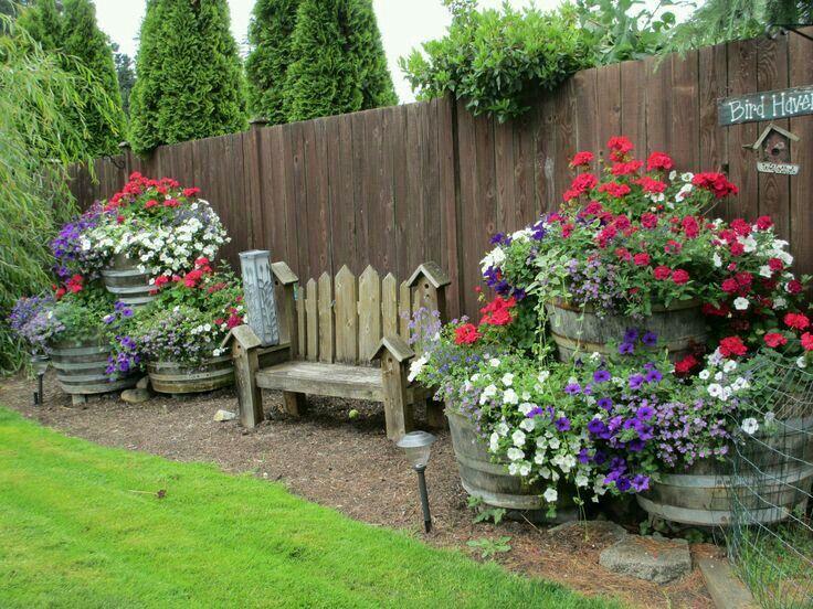 butterfly garden idea add tubs