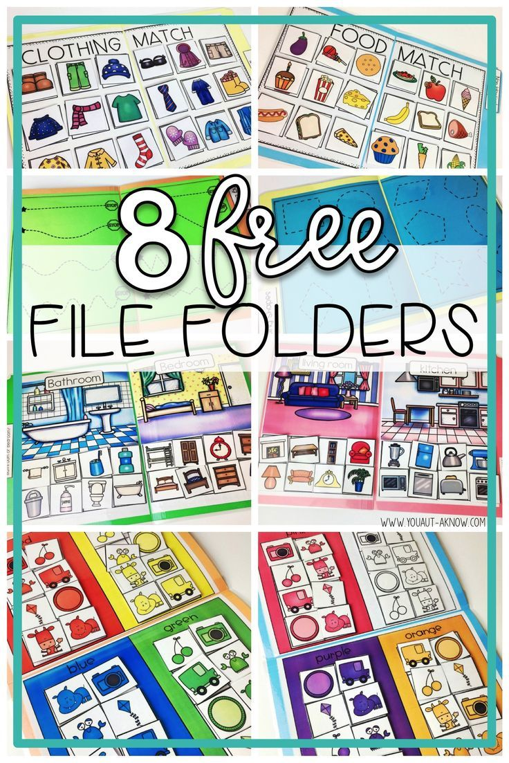File Folder Freebies You Aut A Know File Folder Activities Special Education Classroom Special Education