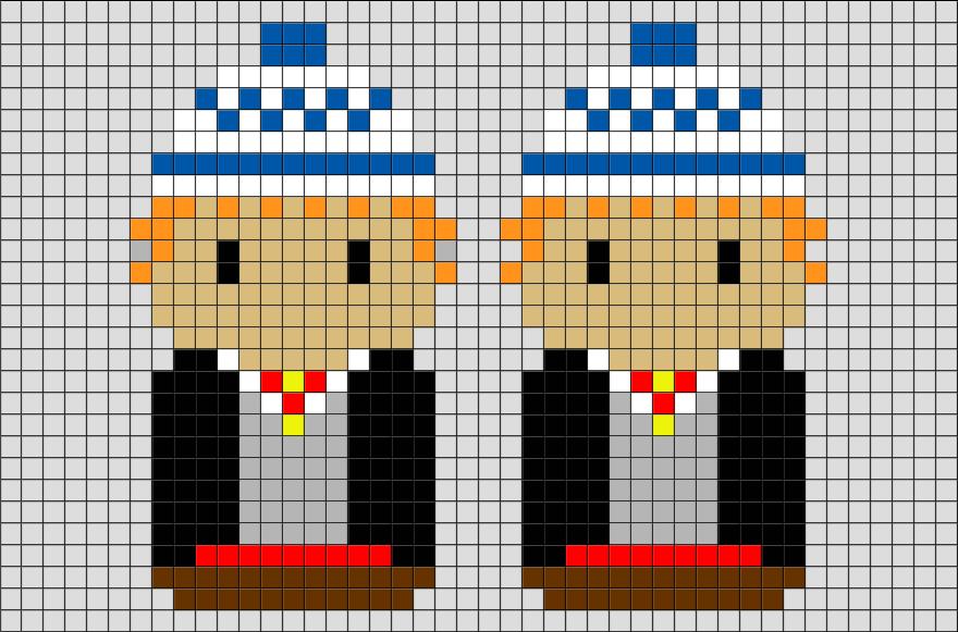 Harry Potter Fred And George Weasley Pixel Art From BrikBook.com # HarryPotter #Fred #George #Weasley #twins #wizard #pixel #pixelart #8bit  Shop More Designs ...